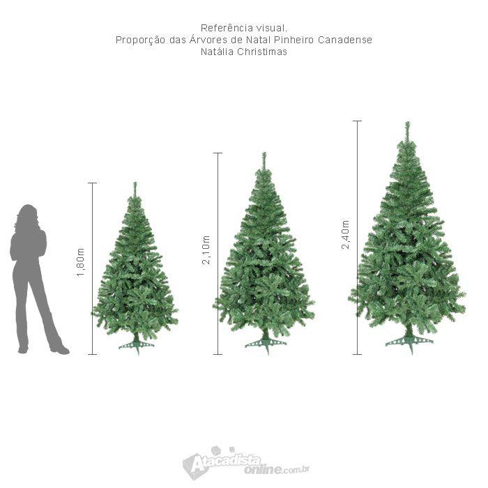 Árvore Natal Canadense 1,80m 580 Galhos +Ponteira - Natália