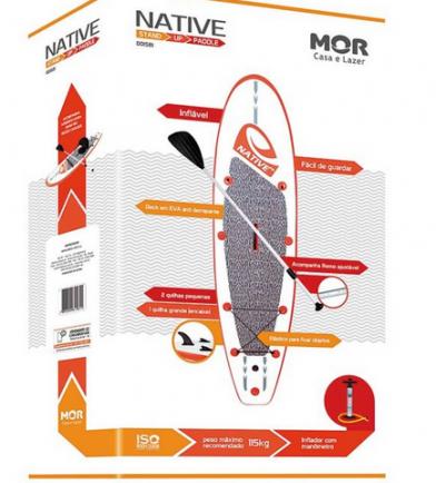 Prancha de Stand Up Paddle Native tm Inflável 3m + Acessórios - M MOR