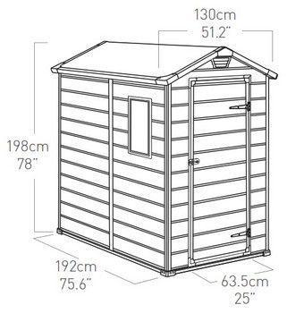 Deposito Armário de Plástico Manor 130x192cm  4x6  - ktr000408 Keter