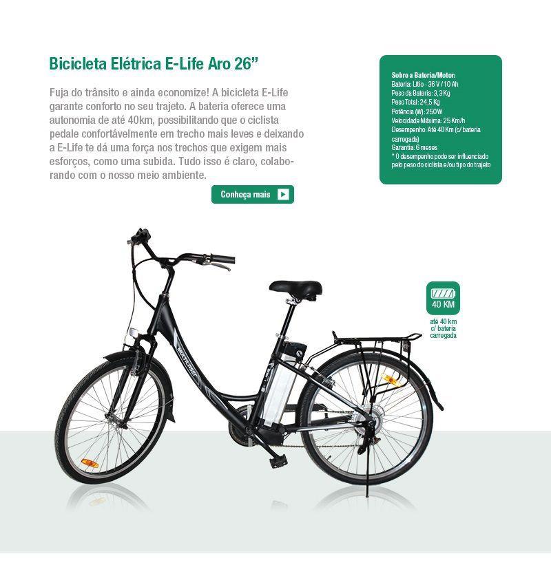 Bicicleta Elétrica Aro 26´ 24,5Kg 36V  au701 Multilaser