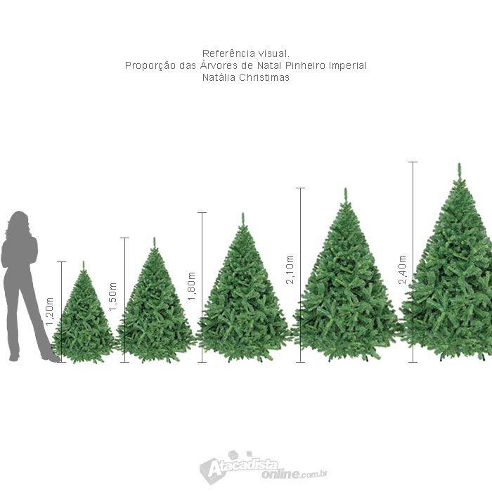 Arvore de Natal Pinheiro Imperial Alpino 2,10m verde 1120 galhos 11,5 kg + brinde - Wanda Hauck