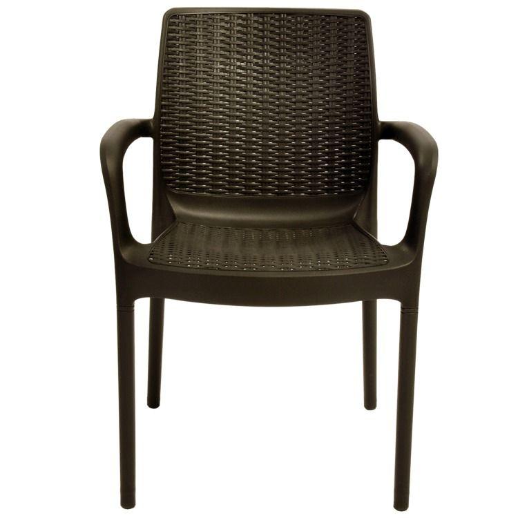 Cadeira Bali com Braço cor Chocolate - ktr000398 Keter