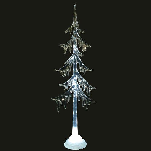 Enfeite Árvore de Natal Cristal Acrílico 33cm - Natalia Christmas