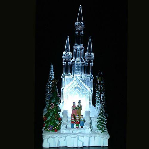 Enfeite Natal Igreja Acrílico 25cm Iluminada - Natalia Christmas
