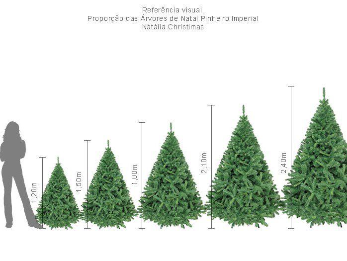 Árvore Natal Imperial Noruega 2,10m 1086 G +Ponteira. Magizi