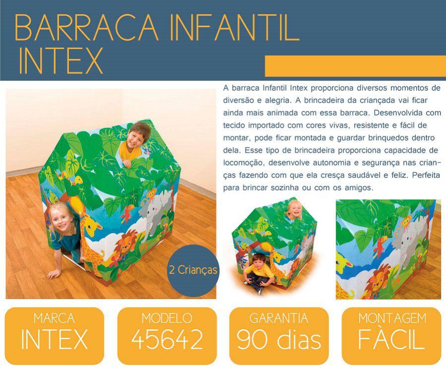 Barraca Infantil Divertida 95x75x107cm - 45642 Intex