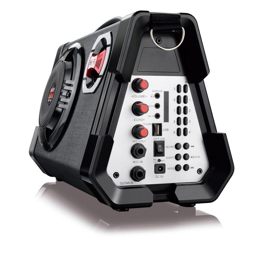 Caixa de Som Com Microfone MP3/USB/SD/FM/Guitarra - SP191 Multilaser