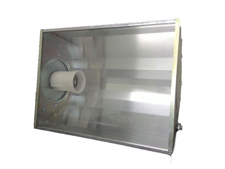 Holofote Refletor Médio 27x26cm p/ Lampada Led E27 Eqlux