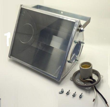 Holofote Refletor Mini 20x17cm p/ Lampada Led E27 Eqlux