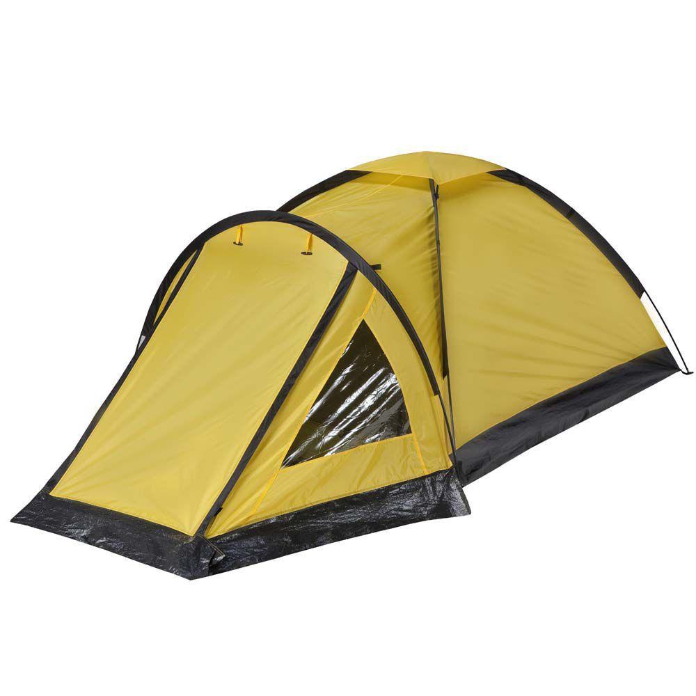 Barraca Camping Cipó C/ Varanda 3 Pessoas Amarela 1,9x1,9x1m - Yankee