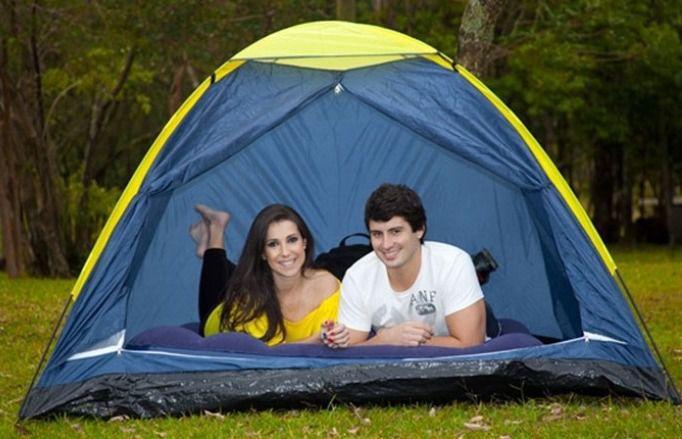 Barraca Camping Pesca Iglú Canastra 2 pessoas Azul - Yankee