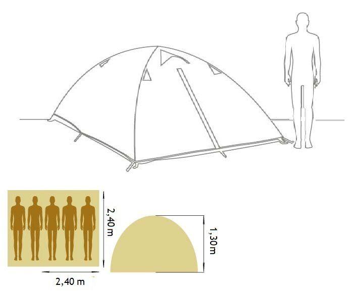 Barraca Camping Mantiqueira Plus 5 Pessoas com Sobreteto - Yankee