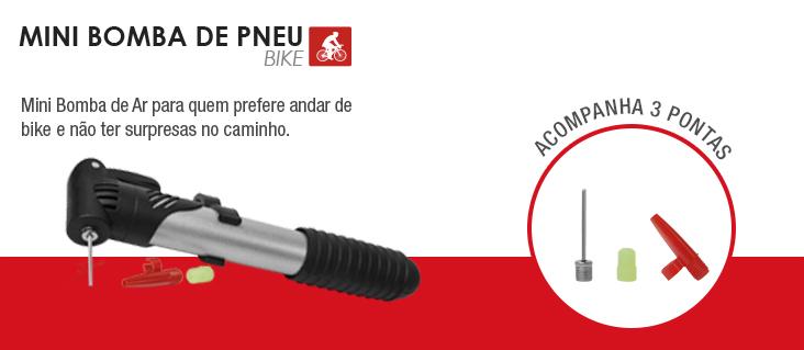 Mini Bomba para Pneus de Bicicleta e Inflaveis BI016 - Multilaser