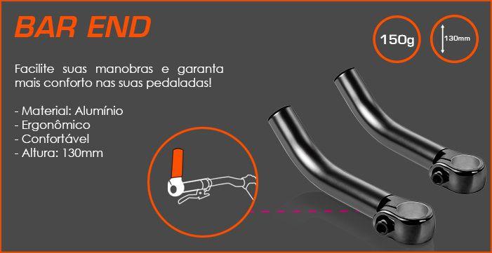 Apoio de Guidão para Bike Bar End Atrio BI033 - Multilaser