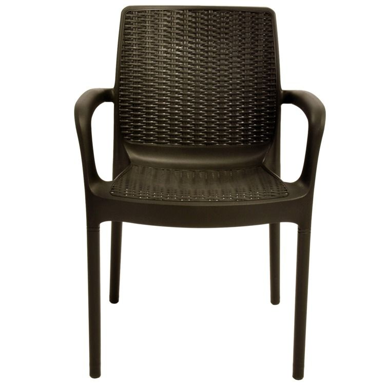 Mesa Blindex Keter Samoa Rattan 1,60m 6 Cadeiras Chocolate