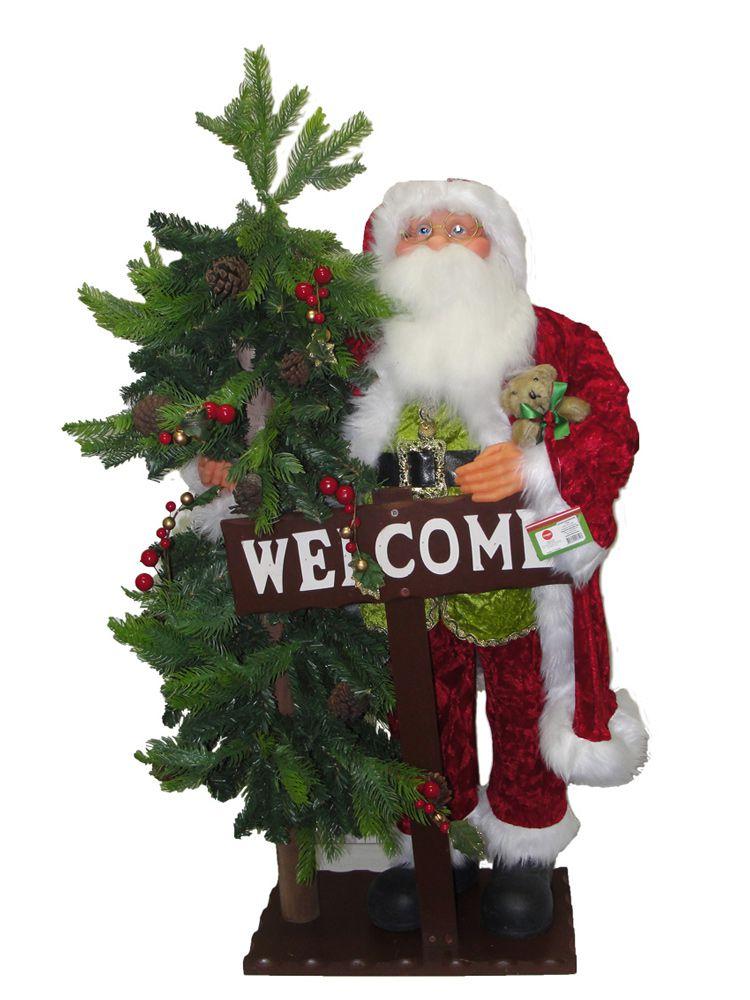 Papai Noel com Árvore Natal Welcome 110cm - Magizi