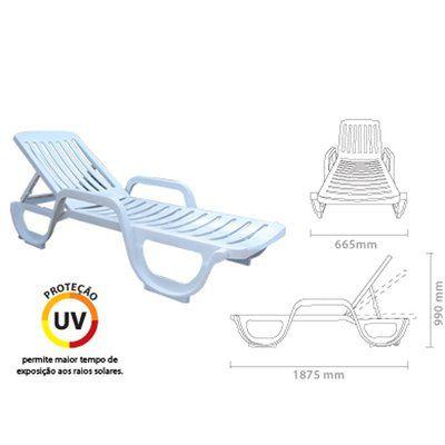 Cadeira Espreguiçadeira Plástico 3 Posições Antares