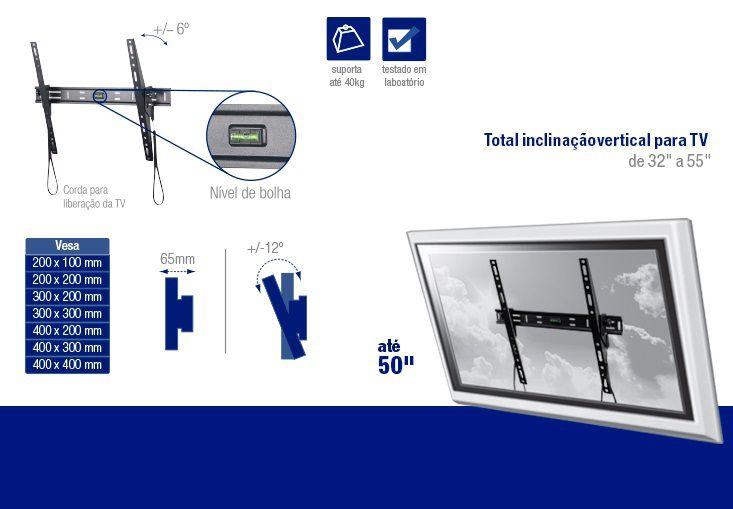 """Suporte Inclinável para TV LED e LCD de 32 Até 50"""" AC262 - Multilaser"""