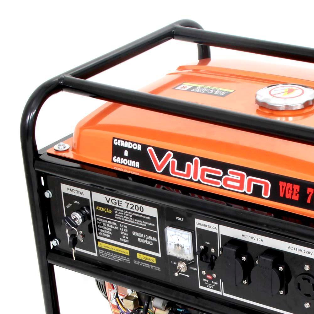 Gerador Elétrico a Gasolina Vulcan 15hp - vge7200 Vulcan