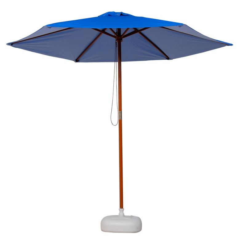 FL-Ombrelone em Napa Bagun 2,4m Azul Madeira Luxo - Luciano