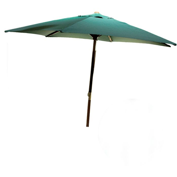 FL-Ombrelone em Napa Bagun 2,4m Verde Madeira Luxo - Luciano