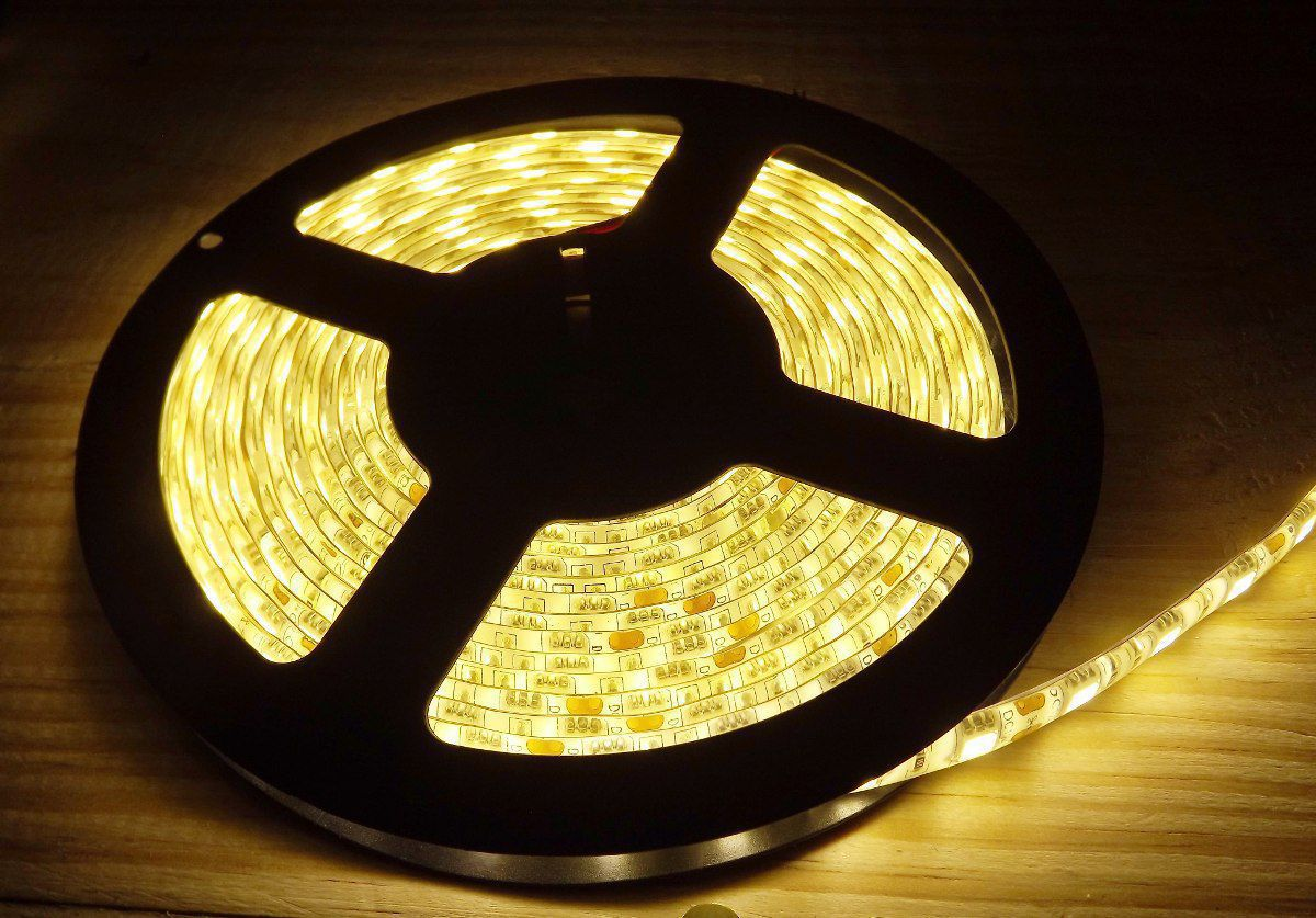 Fita LED 5050 Amarela 3000k 12V 5 m 60LEDs/m IP165 - Remance