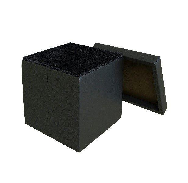 Puff Bau Desmontável 40x40 cm Preto - Vtec
