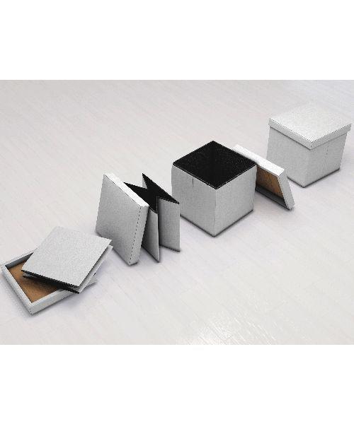 Puff Bau Desmontável 40x40 cm Chocolate - Vtec