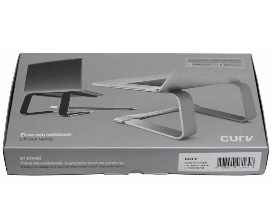 """Suporte Elevado Curv Cristal Gray Notebook MacBook 9 a 17"""""""