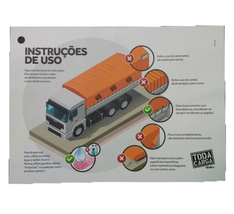 Lona Caminhão Toda Carga 10x5 m Preta - Cipatex