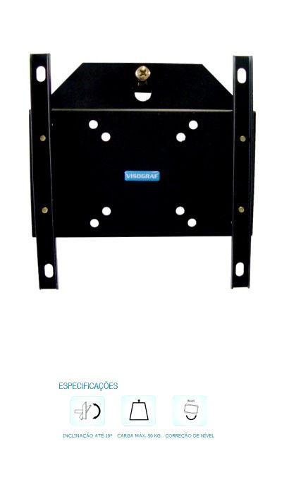 Suporte fixo Parede para TV Plasma LCD ou LED  53´´ Vesa 200 com inclinação - supersimpleG  Visograf