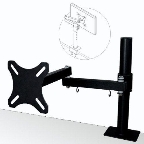 Suporte de Mesa para Monitor TV LCD 15 a 23´´ engate rápido base morsa articulado suplcdamd18