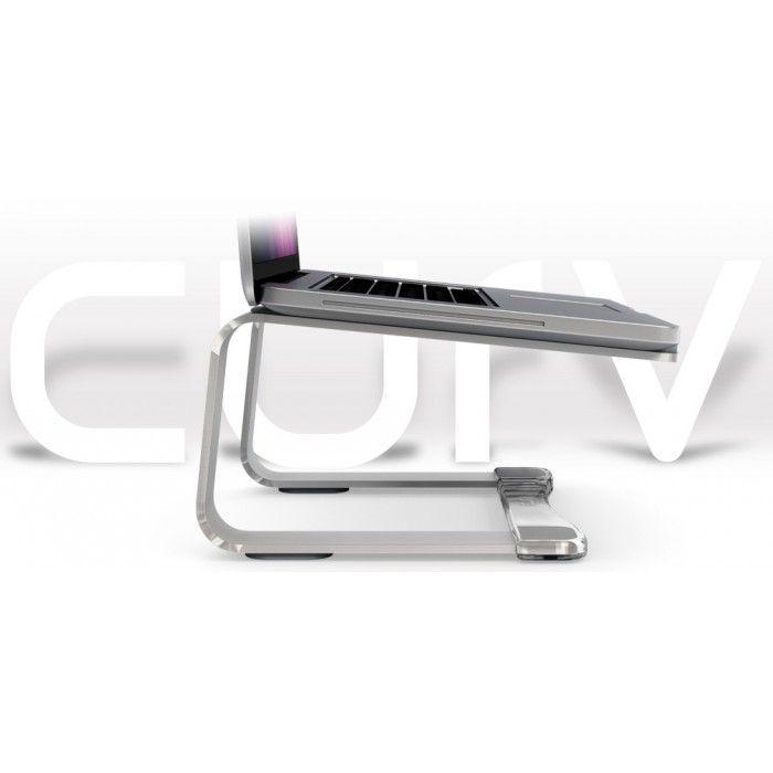Suporte Notebook Dj New Curv Elevator Laptop - Prata - n1 Curv.