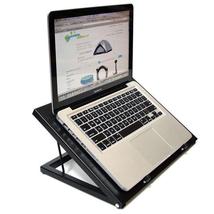 Suporte de Mesa para Notebook Macbook Ergonomico metal resfriador e regulagem - supdesk - Visograf
