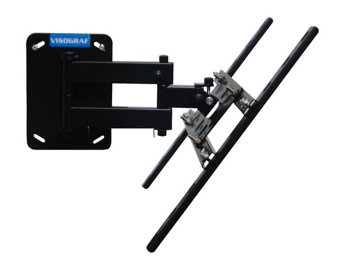 Suporte de Parede para TV Plasma, LCD ou Led até 47´´ Vesa 400 Até 50Kg. supmedium - Visograf