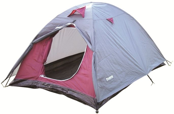 Barraca Camping Iglu Plus com sobreteto 5 a 7 pessoas vinho/cinza 210x210x100cm - Yankee
