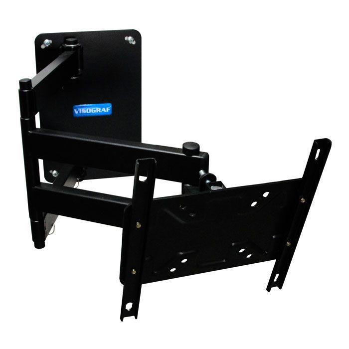 Suporte de Parede para TV Plasma LED ou LCD - ate 46´´ artic carga 50kg Vesa 200 suplarge Visograf