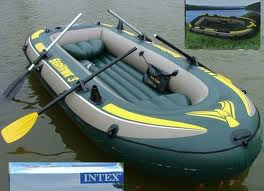 Bote Inflavel SeaHawk 300 + 2 Remos + Fole - Intex