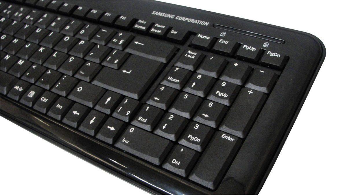 Teclado Usb 103 teclas Ultra Slim Touch Keypad for Win Mac Pleomax pkb5100b - Samsung