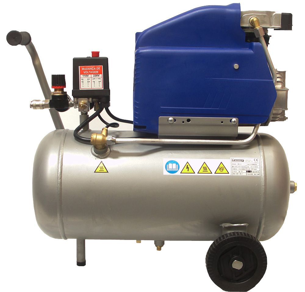 Compressor de Ar Profissional 24 Litros 2HPs 200 L/m - Bivolt mb24 - Michelin