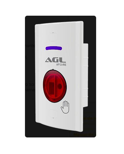 FL- Acionador Ir No Touch Agl Ext 4x2 P/ Fechadura Eletrica