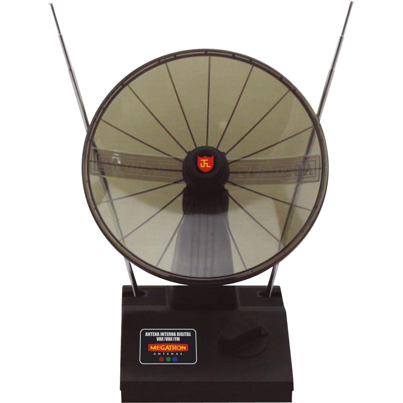 Antena Tv Interna Digital Miniparabolica Megatron