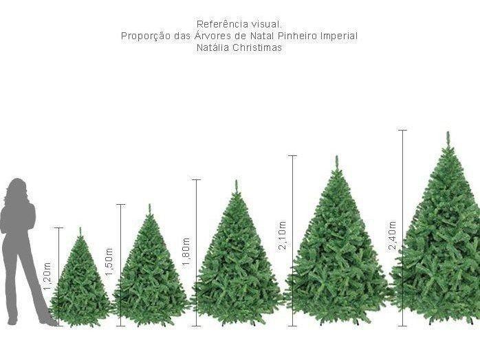 Arvore Natal Big Imperial  2,40m 1460 Galhos + Ponteira NC