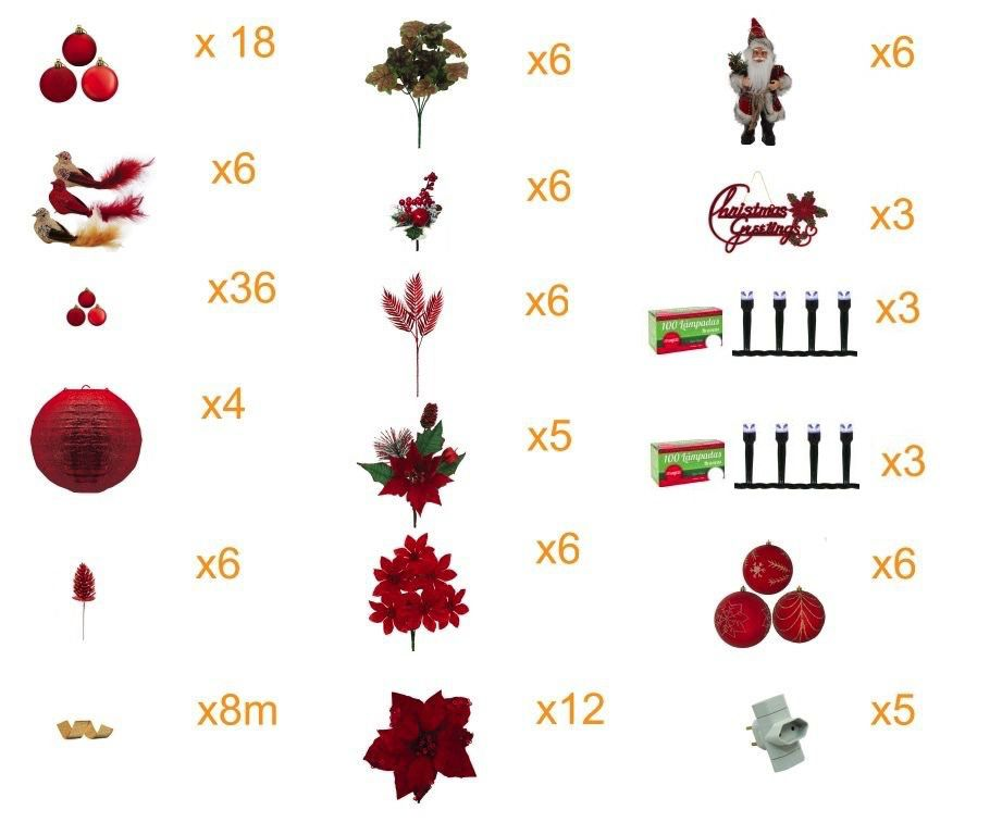 Árvore Natal Imperial Decorada 2,10m 1086 G 156 Pçs Mil Leds