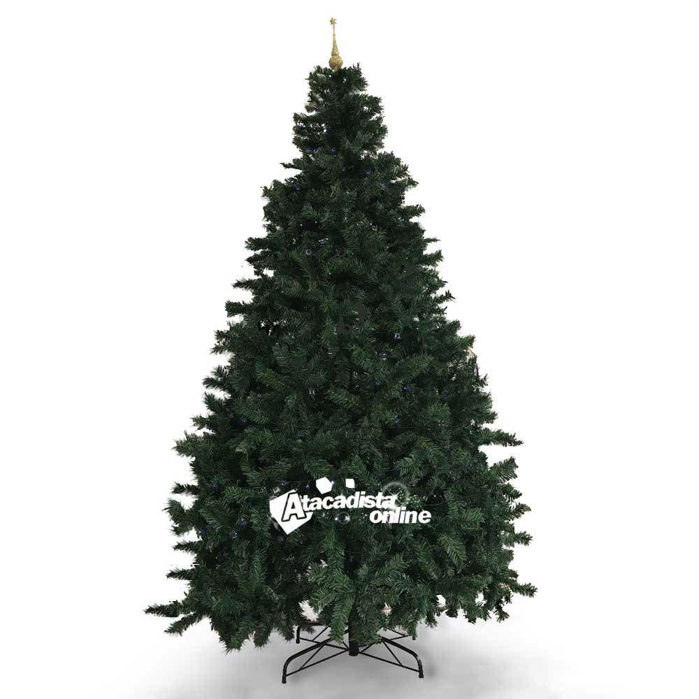 Árvore Natal Imperial Decorada 2,70m 1892 G. 156 Pçs Luz Led
