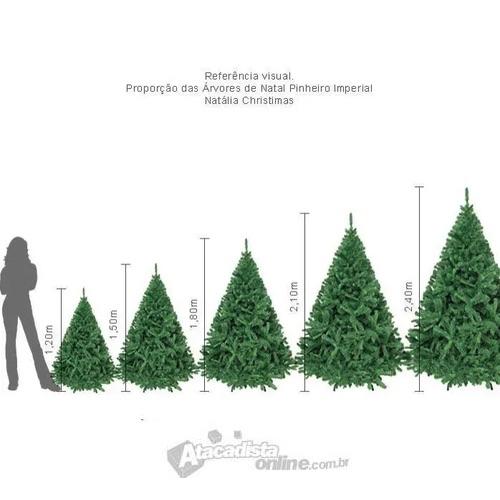 Árvore Natal Imperial Noruega 2,10m 1086 G + Ponteira Magizi