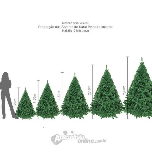 Árvore Natal Imperial Noruega 2,70m 1892 G + Ponteira Magizi