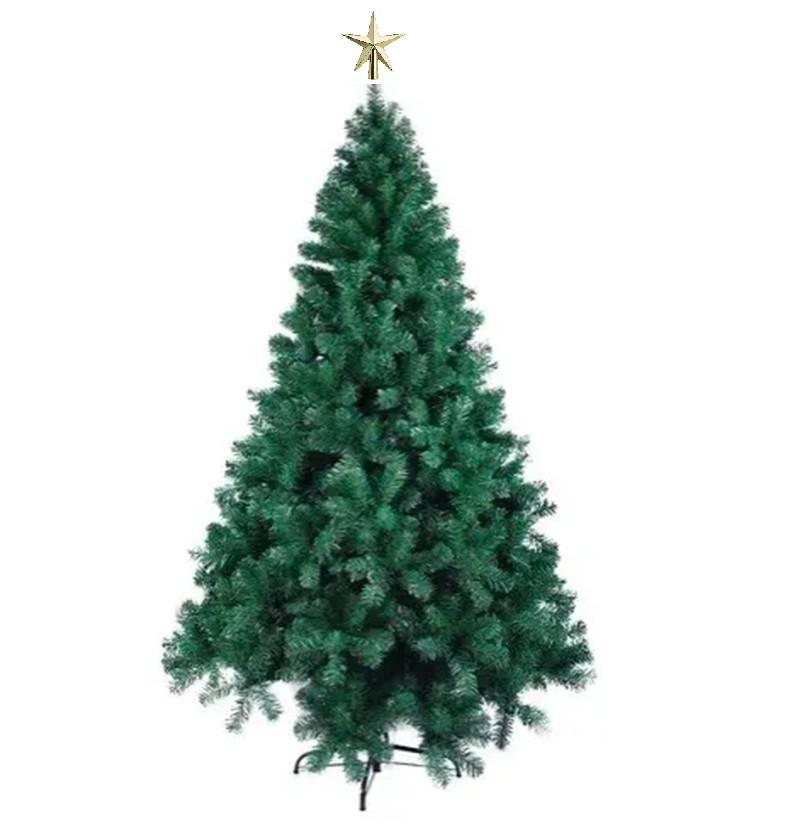 Árvore Natal Pinheiro Dinamarca 1,80m 580G + Ponteira Magizi
