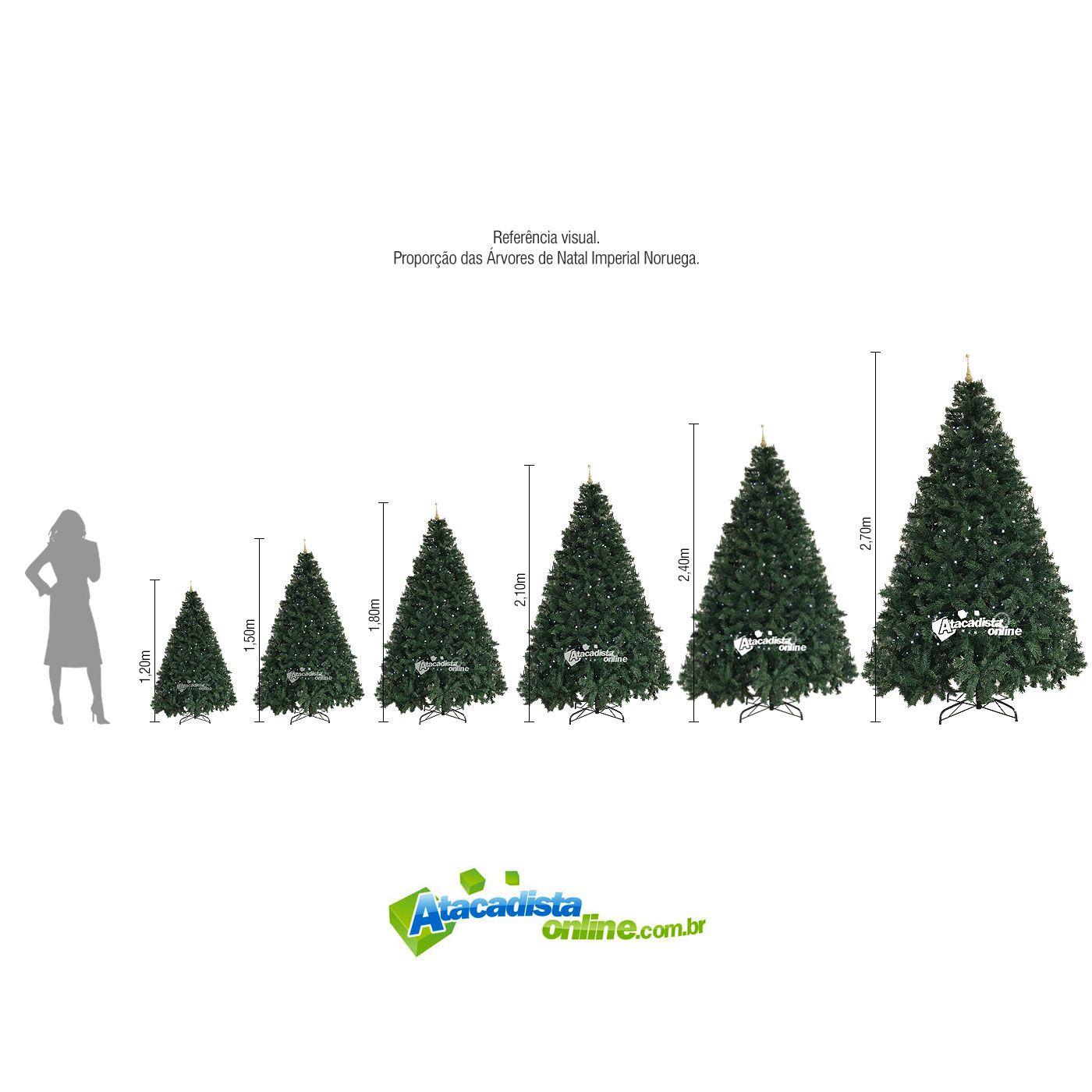 Árvore Natal Pinheiro Alemão 2,10m 860G + Ponteira Magizi