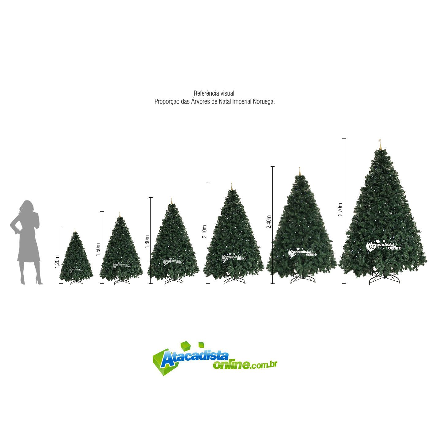 Árvore Natal Pinheiro Alemão 2,40m 1198G Ponteira Magizi